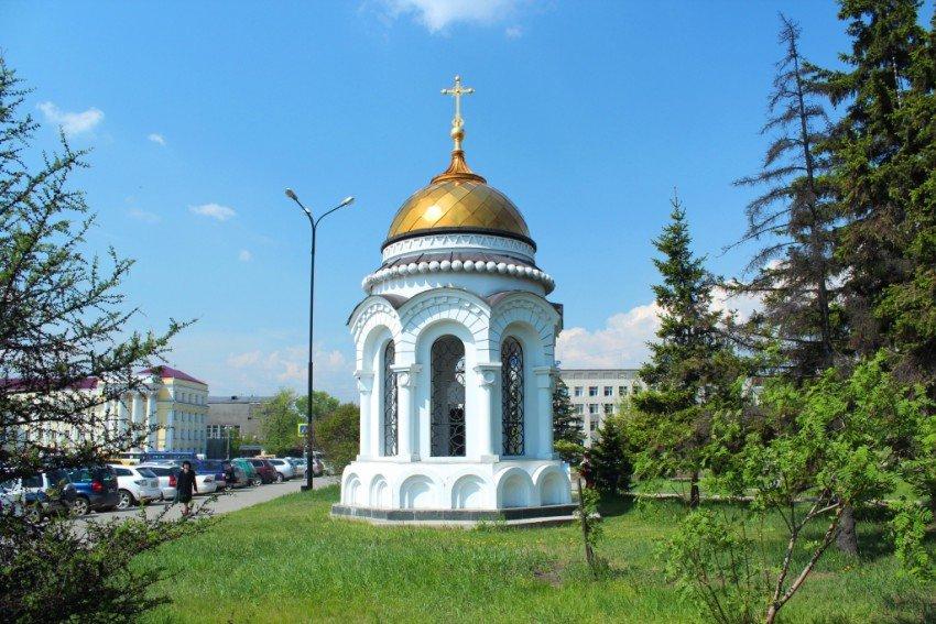 Часовня у администрации Иркутской области