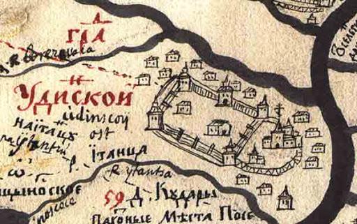 Карта Удинского острога